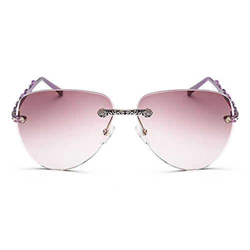 LOMOL Womens Trendy Metal Frame UV Protection Personality Drive Beach - Priced Sunglasses Low Sell To