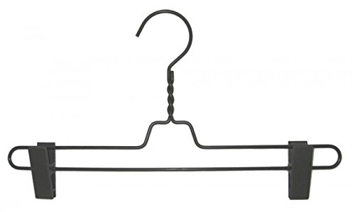 NAHANCO CLIPRS 14'' Pant Hanger with Gun Metal Finish Metal Clip (Pack of 100) by NAHANCO