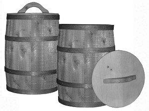 Acorn Manufacturing TLID Wooden Nail Keg Lid