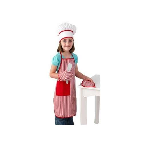 KidKraft Tasty Treats Chef Accessory Set - Red (Chef Costume Boys compare prices)