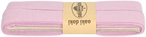 Oaki Doaki Jersey-Einfassband Cinta al bies el/ástica de 3 m lila . color morado ancho: plegado de 2 cm 947