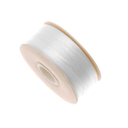Nymo Nylon Beading Thread for Delica Beads, 72-Yard, White Beadaholique 122A-002