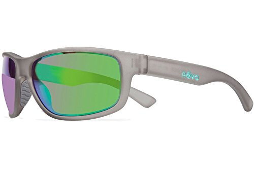 Crystal Green Sunglasses (Revo Baseliner RE 1006 Polarized Wrap Sunglasses, Crystal Grey/Green Water, 61 mm)