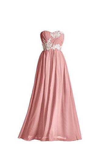 dusty rose color wedding dress - 4