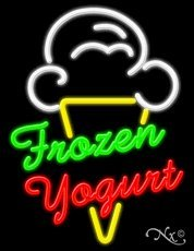 Frozen Yogurt Business Neon Sign - 31 x 24 x 3 inches - Made in USA