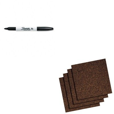(KITQRT101SAN30001 - Value Kit - Quartet Cork Panel Bulletin Board (QRT101) and Sharpie Permanent Marker (SAN30001))