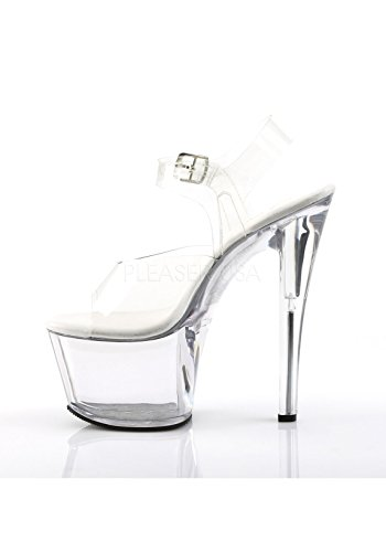 Clear Women's Dress M Platform Sandal SKY308VL C Pleaser Clear 8dXBBq