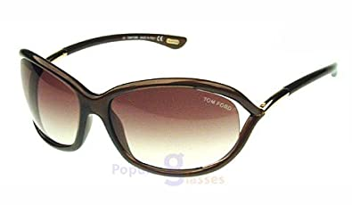 Tom Ford Jennifer FT0008 Sunglasses-692 Dark Brown (Gradient Brown  Lens)-61mm