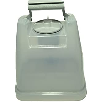 Hoover Steam Cleaner Solution Tank with Lid, Fits: Ultra Steamer Models, tank is square old style Model F 5912-900, Hoover Part Number 42272134