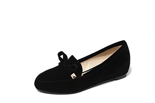 Taille Bouche Carrée Chaussures En À Augmentation Hauteur Peu Femmes Télévision Simple Black Tête Profonde Grande HHn0UOqg