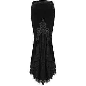 Dark In Love Mermaid Lacey Maxi Skirt