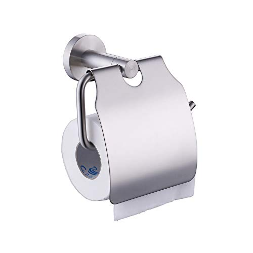 KES A2170-2 Stainless Steel Toilet Paper Holder Single Roll with Cover, Brushed SUS304 Stainless
