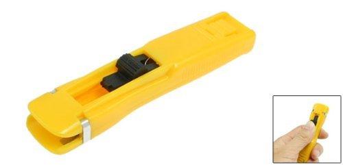 DealMux carga del muelle de empuje hacia adelante acolchar almeja Clip dispensador amarillo: Amazon.es: Oficina y papelería