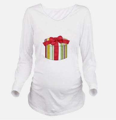 5ed64bb38696f Trendy Tops for Pregnant Women Clothing Maternity Tee Shirts Christmas  Gifts Printed New Year Pregnancy Clothes Plus Size 3XL:White Long Gifts, ...