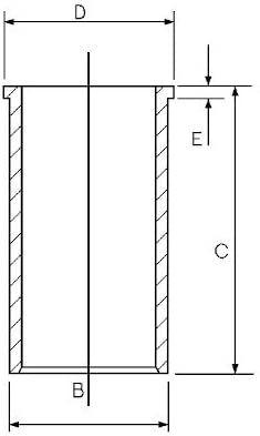 Goetze Engine 14-020530-00 Chemise de cylindre