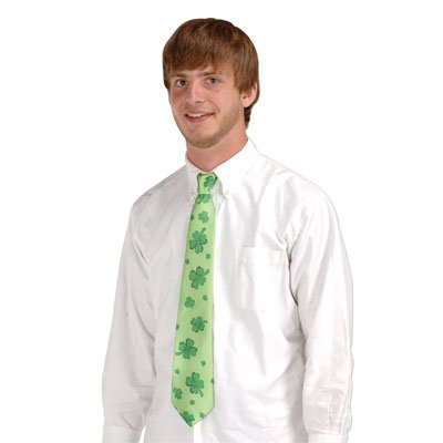 Shamrocks Tie Party Accessory (1 count) (1/Pkg) ()