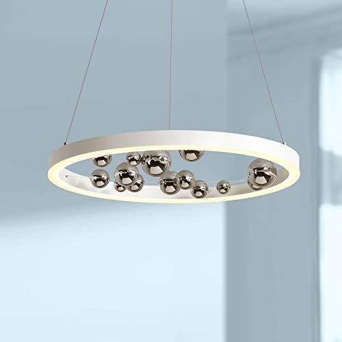 White Circular LED Light Pendant Lamp Chandelier Lighting Fixture 24