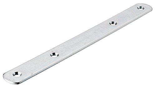 10 Stück - Möbelverbinder Metall Verbindungslasche mit 4 Anschraublöcher für Blenden & Möbel   Arbeitsplattenverbinder mit Länge 190 mm   Möbelbeschläge von GedoTec® GedoTec®