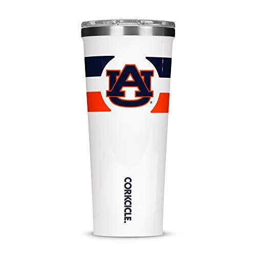 Corkcicle Tumbler - 24oz NCAA Triple Insulated Stainless Steel Travel Mug, Auburn University Tigers, Gym Stripe (Stainless Travel Mug Auburn Tigers)