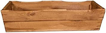 Jardinera de madera para plantas, ya montada, D8, nogal (64 cm)