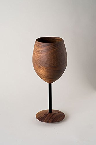 Amazoncom Wooden Walnut Wine Glass With Black Stem Wine Glasses