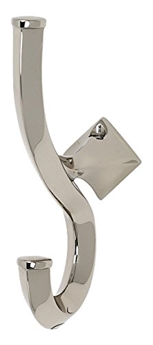 Alno A7199-PN Spa 2 Modern Robe Hooks, Polished Nickel by Alno