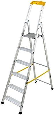 Hailo 1 Escalera domestica 6 peldaños, aluminio: Amazon.es: Bricolaje y herramientas