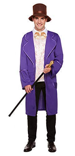 Mens Chocolate Factory Owner World Book Day Week Film TV Halloween Fancy Dress Costume Outfit -