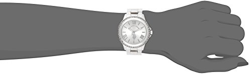U.S. Polo Assn. Women s Watch with Crystal Studded Bezel, Alloy Bracelet Strap with Jewelry Clasp