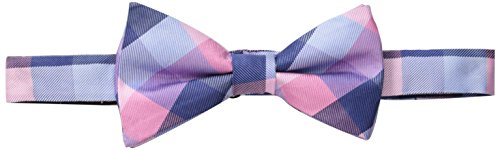 Tommy Hilfiger Men's Buffalo Tartan Pre-Tied Bow Tie, Pink, One Size (Tommy Hilfiger Bow Tie And Pocket Square Set)