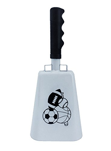 Sporting Fan Bell - 12 inch Cowbell with Black Handle Sports Accessory