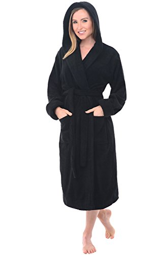 - Alexander Del Rossa Womens Turkish Terry Cloth Robe, Thick Hooded Bathrobe, 3XL 4XL Black (A0105WBK4X)