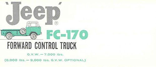 1960 Jeep FC170 Forward Control Truck Mailer Brochure