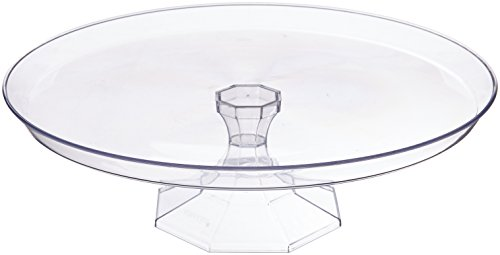"Amscan Clear Medium Dessert Stand Food Tasting Party Tableware and Serveware, Plastic, 11""."