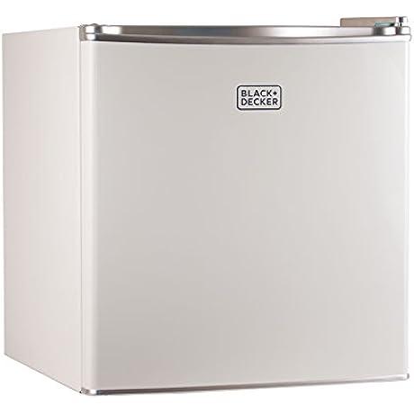 BLACK DECKER BCRK17W Compact Refrigerator Energy Star Single Door Mini Fridge With Freezer 1 7 Cubic Ft White