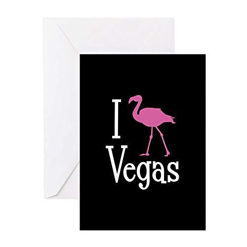CafePress I Love Vegas Greeting Card, Note Card, Birthday Card, Blank Inside Glossy