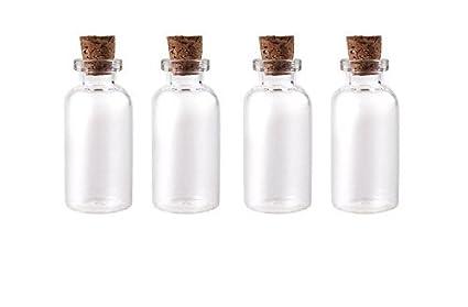 25 pcs 2 ml botella de vidrio viales Mini botes de mensaje claro vacío que deseen