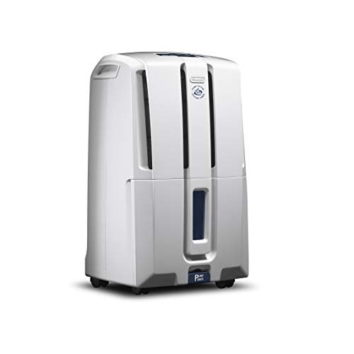 DeLonghi 70 Pint Dehumidifier with Built in Pump 24-Hour On/Off Timer, Energy Star 2.0, DDX70PE, White