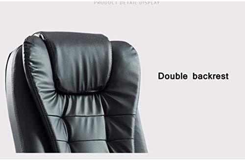 Barstolar Xiuyun kontorsstol spelstol skrivbordsstol, fejkläder möte stol hög rygg konferensstol chef verkställande uppgift stol, svängbar stol (färg: Brun -B)
