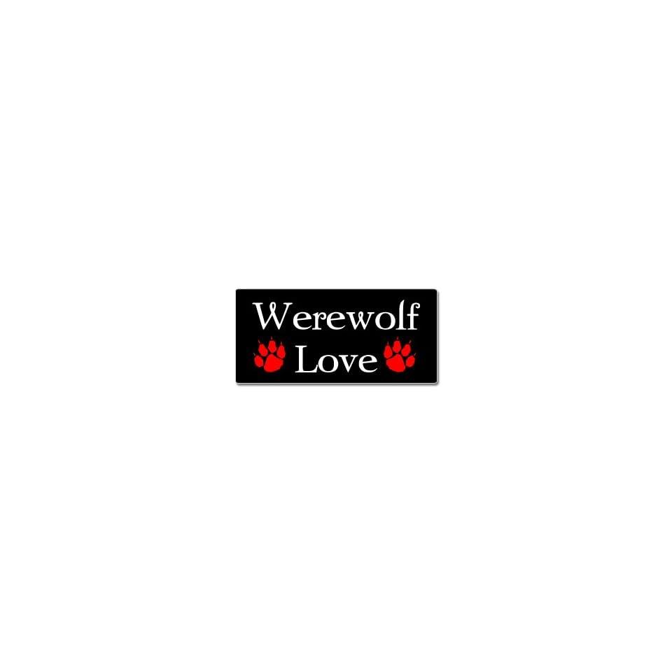 Werewolf Love   Werewolves   Window Bumper Sticker