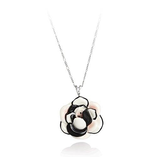 Franz Jewelry Porcelain - Franz Porcelain Pendant Necklace Camellia Flower