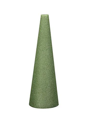 Floral Foam Cone - FloraCraft Styrofoam Cone 4.8 Inch x 11.8 Inch Green