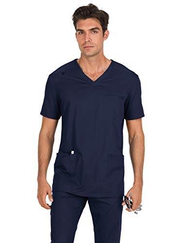 KOI Stretch 665 Men's Tyler Scrub Top Navy L