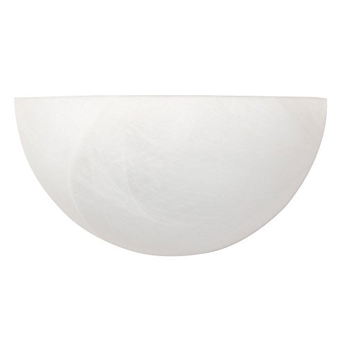 Capital Lighting 1681MW Wall Sconce with Faux White Alabaster Glass Shades, Matte White - Alabaster Faux