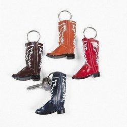 Vinyl Cowboy Boot Key Chains (1 per package)