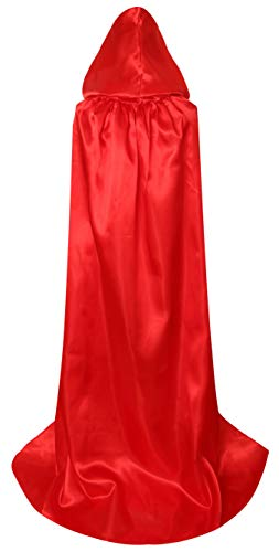 De Lujo Navidad Adultos Rojo Txian La Larga Capa Extra Halloween Con Satén Capucha Para BWw5TqC