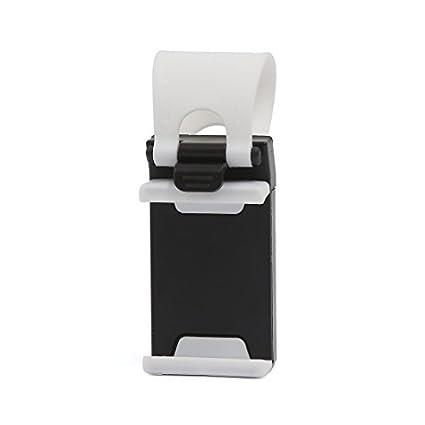 eDealMax Blanca Universal Banda de silicona Para automóvil Titular Volante del GPS del teléfono del soporte