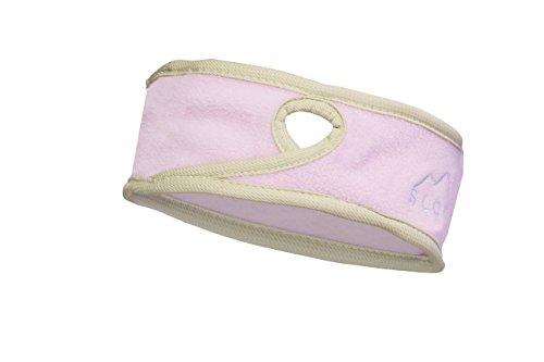 Slope Women's Girl Ponytail Headband Polyester Fleece Full Ear Warmer Sports Coverage Guards Pink / Brown (Headband Scarf Tail)
