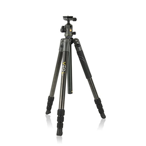 Vanguard VEO 2 264CB Carbon Fiber Travel Tripod with VEO 2 BH-50 Ball Head for Sony, Nikon, Canon, Fujifilm Mirrorless, Compact System Camera (CSC), DSLR (Best Travel Tripod For Mirrorless Camera)