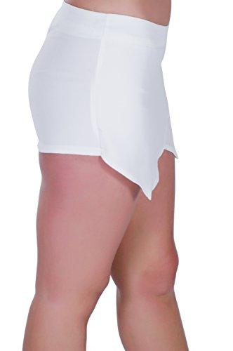 Eyecatch Dames Femmes Pantalon Aux Mode Blanc Jupe Mini Short rnOrxRB